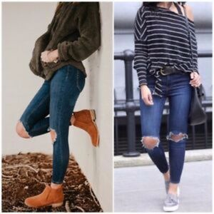Free People Busted Knee Skinny Jeans, Size 25